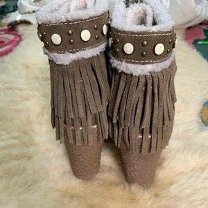 Sam Edelman Shoes - Sam Edelman Fringe Moccasin Boot Wedges